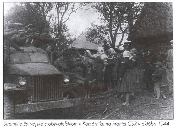 The soldiers of the Czechoslovak Army in Vyšný Komárnik