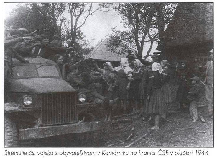 The soldiers of the Czechoslovak Army in Vyšný Komárnik