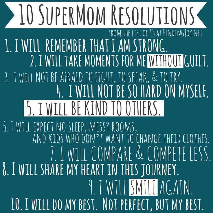 10 SuperMom Resolutions (because you know we need them)