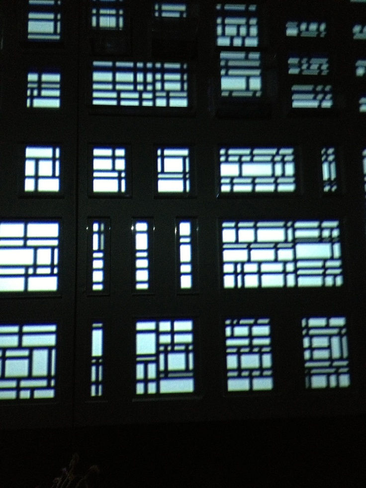 patterns in glass