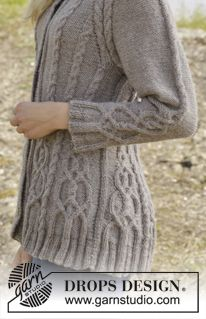If you love a good challenge on cables - this jacket is the one to make! #knitting #aw2014