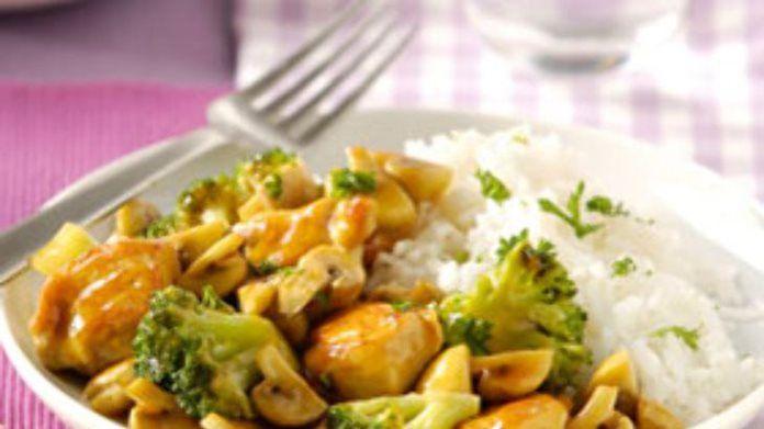 Kip teriyaki recept met broccoli en champignons recept