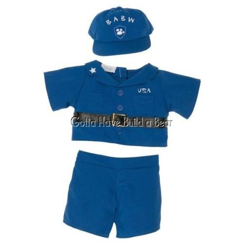 Build a Bear Blue Boy U.S. Coast Guard Military Uniform Jacket, Pants & Hat NWT