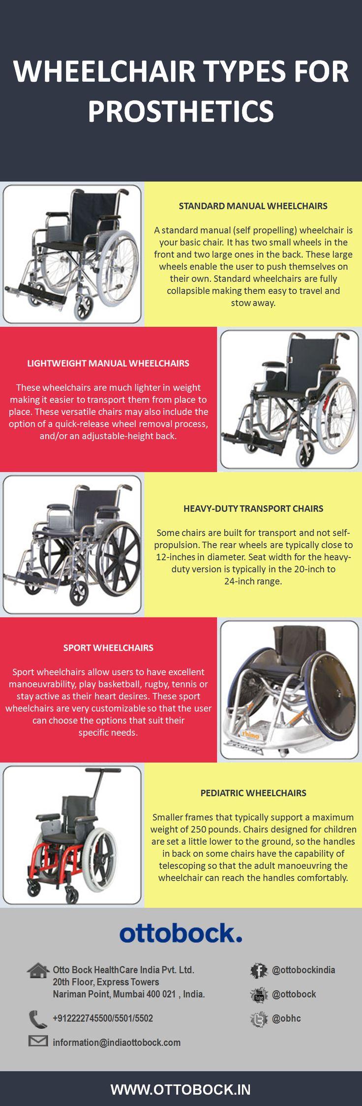 Lightweight, Sports, Pediatric wheelchair types for leg prosthetics by Ottobock.