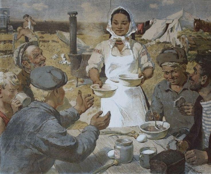 Ирина Воробьева. Повариха. 1957