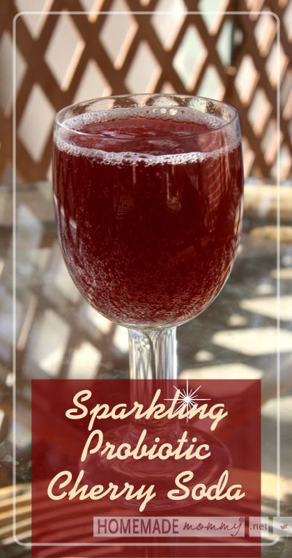 Sparkling Probiotic Cherry Soda