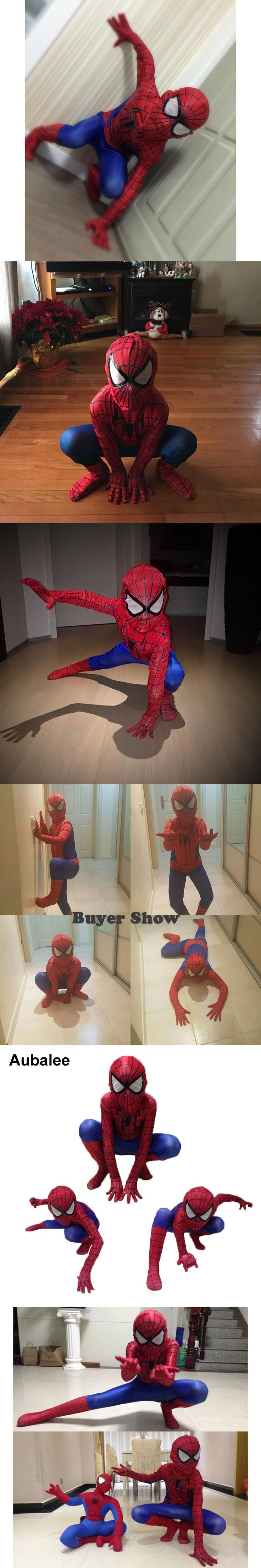 Kids Spiderman Costume Child Superhero Cosplay Elastic Jumpsuit Amazing Spiderman Spandex Zentai Suit Halloween boys Costumes