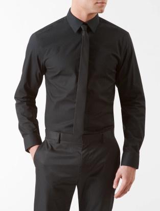 Black dress shirt and pants