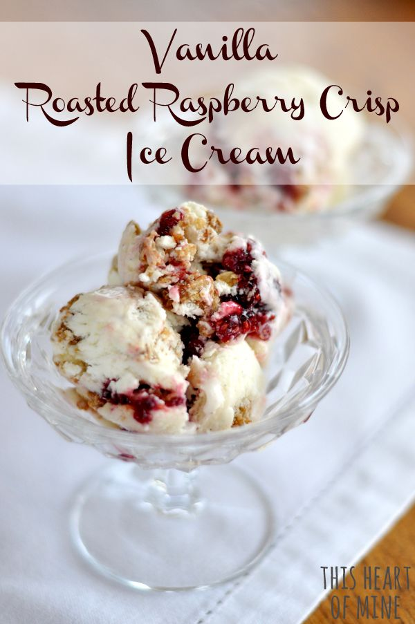 """Roasted Raspberry Vanilla Ice Cream- Amish love their ice cream!! Here is a wonderful looking ice cream!"" #spring #recipe #springrecipes #raspberry #icecream"