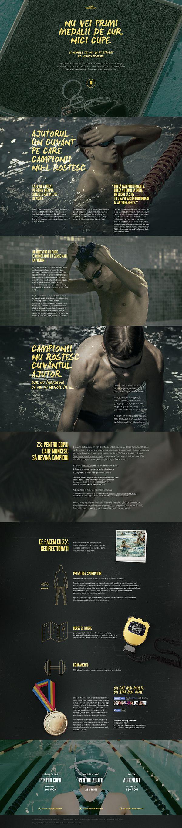Fundraising Campaign for Aqua Team Swimming Club by Horia Manolache, via Behance