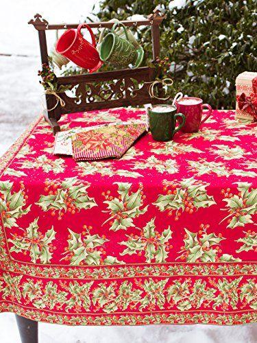 "ac-hr120n12 April Cornell Red Holly Christmas Set 120"" X 60"" Tablecloth 12 Dinner Napkins 100% Cotton Holiday April Cornell http://www.amazon.com/dp/B00R048Q96/ref=cm_sw_r_pi_dp_r9Sswb1QRSV7S"