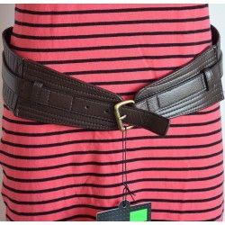 Ichi dámský pásek tmavě hnědý S; belt