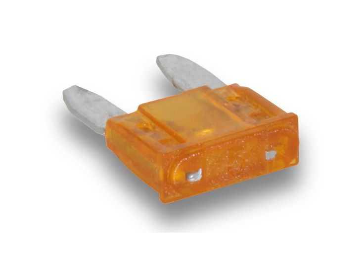 100 pcs. Plastibox Mini blade fuse 05 amp item number: PB100-MINI-05  Low voltage electronic applications blade style fuse  Maximum voltage: 58V DC Interrupt capacity: 1000A @ 58V DC Operating temperature range: -40ºC / +125ºC -40ºF / +257ºF