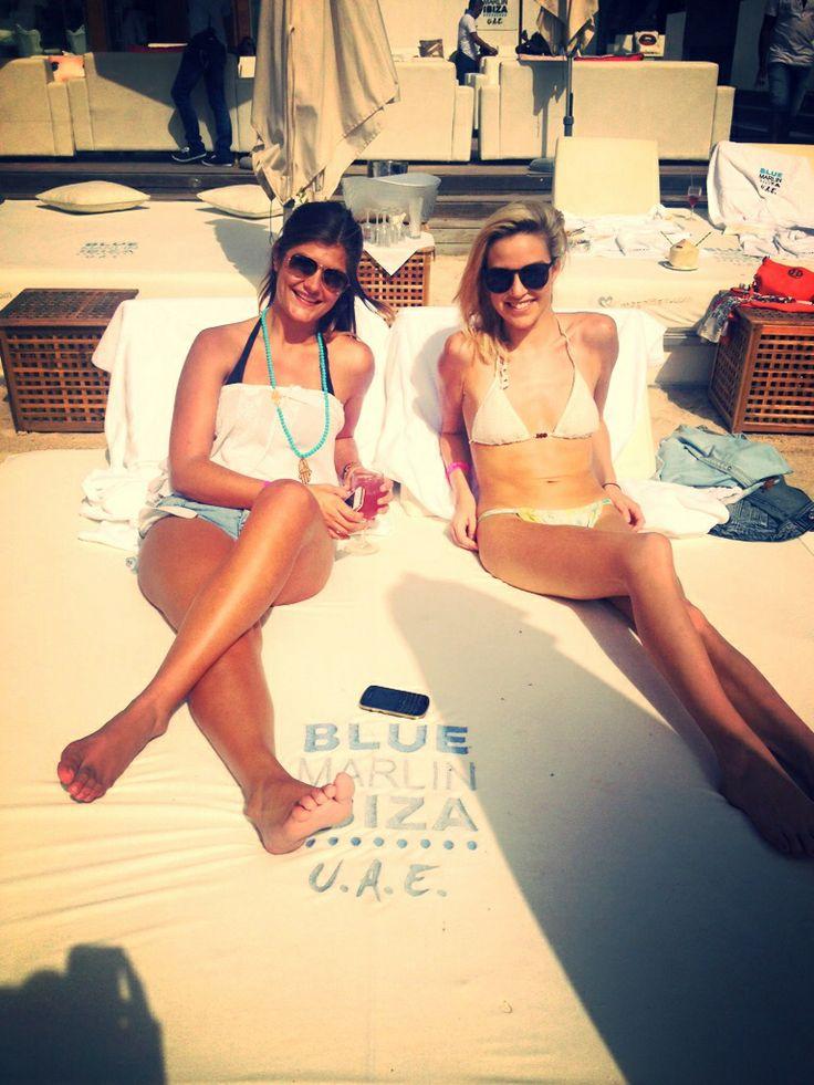 Bel & Luisa chilling at Blue Marlin, Dubai