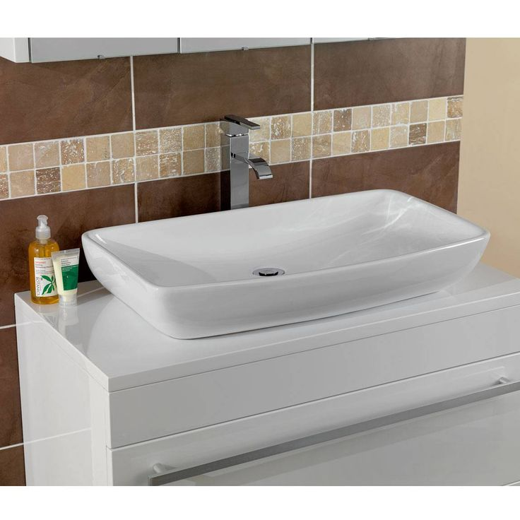 Photo On The Verona Counter Top Basin makes a truly elegant and contemporary addition to any bathroom It can be fitted on any suitable counter top and paired with