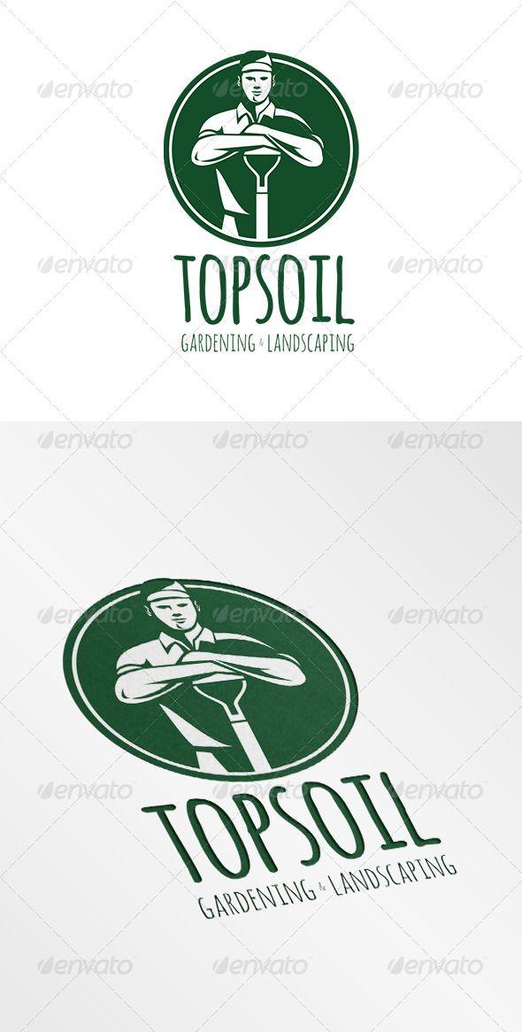 Top Soil Gardening and Landscaping Logo — Vector EPS #gardening #artwork • Available here → https://graphicriver.net/item/top-soil-gardening-and-landscaping-logo/6906953?ref=pxcr