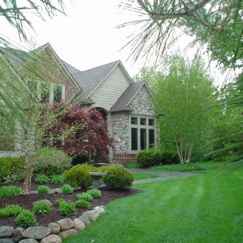 Residential landscaping project in South Lyon, MI.