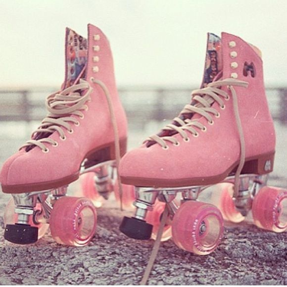 MOXI Pink Suede Roller Skates Used once, somewhat unsuccessfully (I can't skate). Originally from Urban Outfitters. The circle in the middle of the suede leather is from where I took the sticker off, it's not damaged. Material: Suede Leather. Moxi Shoes