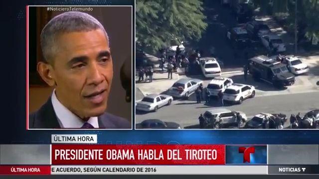 Presidente Obama Habla Sobre Tiroteo En San Bernardino #Video