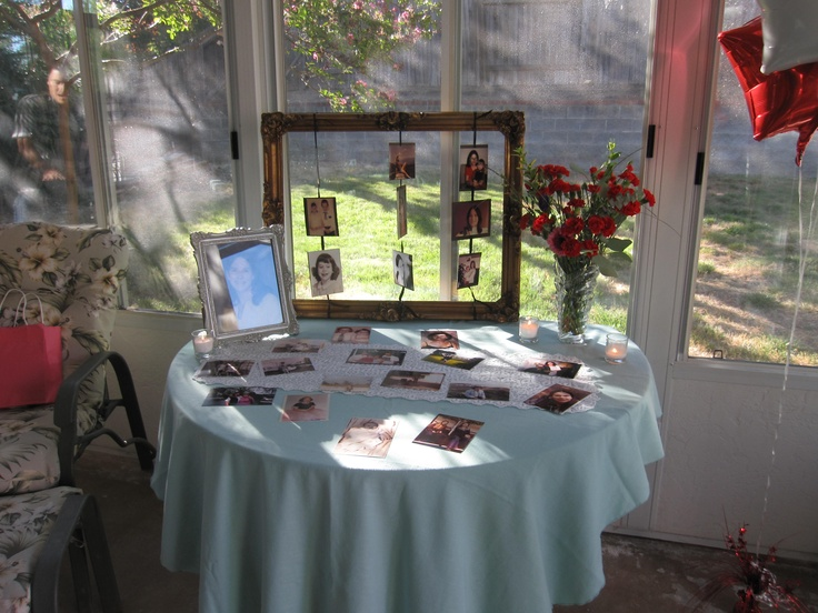 60th Birthday Party. Picture Display