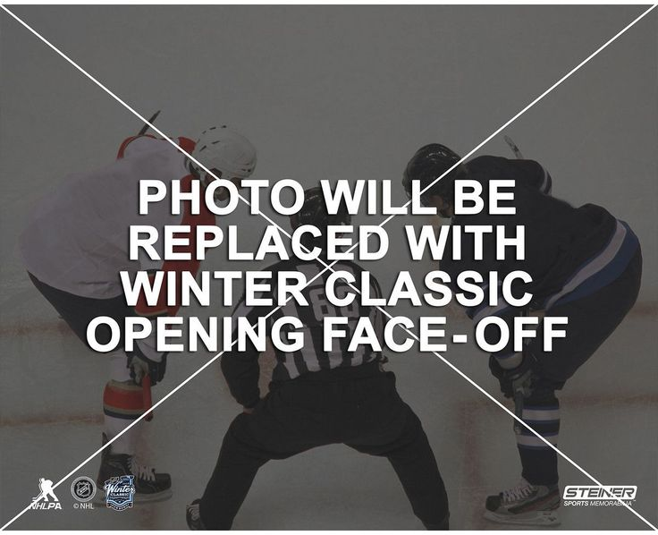 2016 NHL Winter Classic Opening Faceoff 8x10 Matted Photo
