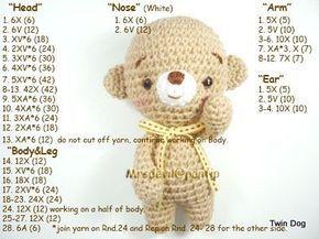 CROCHET - BEAR - FREE - Amigurumi crochet pattern.