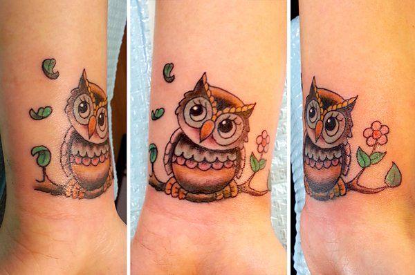 small owl tattoo - Google Search