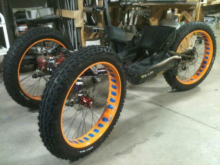 Bent fat bike