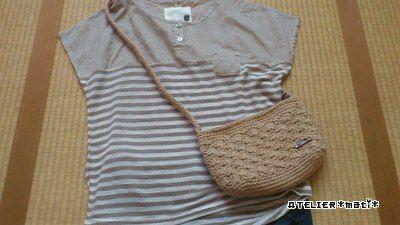 自分用に編んだ松編みの麻ひもポシェットの編み図です^^ネットで無印良品の麻ひもが編みやすいというのを見つけたので、さっそく買いに行ってみました^^実際に編んでみて、すご~く編みやすいというわけではなかったですが、太さがあ