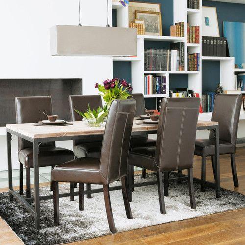 17 meilleures id es propos de chaises de d ner en m tal for Table de salle a manger nordique