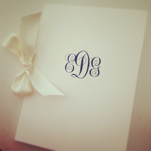 Traditional and beautiful monogrammed wedding program
