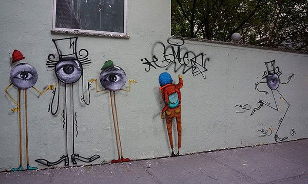 Os Gemeos, JR and Andre Saraiva Create New Street Works in New York