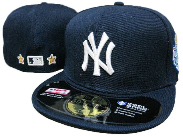 New York Yankees 59fifty Fitted Hats Leather Hat Black 239|only US$8.90
