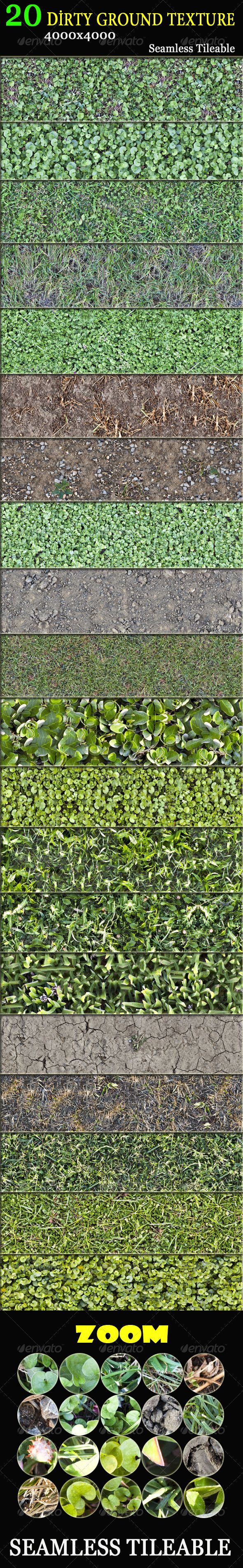 20 Dirty Ground Textures #GraphicRiver 20 Dirty Ground Textures Seamless, tileable. 4000×4000 High Quality Here are some example pictures I try to use as a photoshop pattern Example 1 ( Before ) ( After ) Example 2 ( Before ) ( After ) Example 3 ( Before ) ( After ) Please rate after you buy Singer, Songwriter, Composer. MY VARIOUS SOUNDS COLLECTIONS Save Your Money with my various Music Packs Each of these pack includes several music track swith a promotional price for the pack. So, you can…