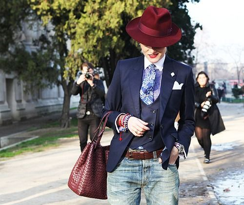I need that hat, blazer, and waistcoat. All of it actually.