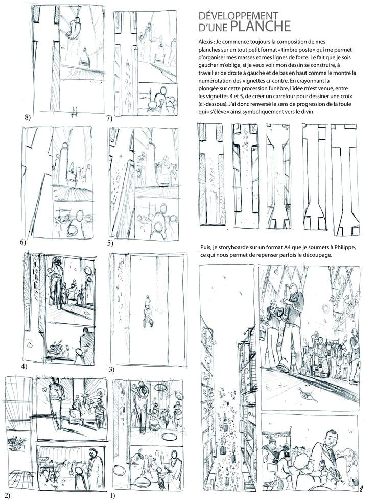 La création d'une planche commentée par Alexis Chabert