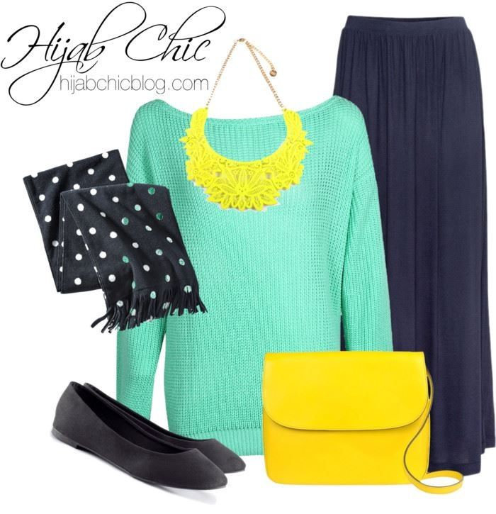 casual neon colour #hijabchic