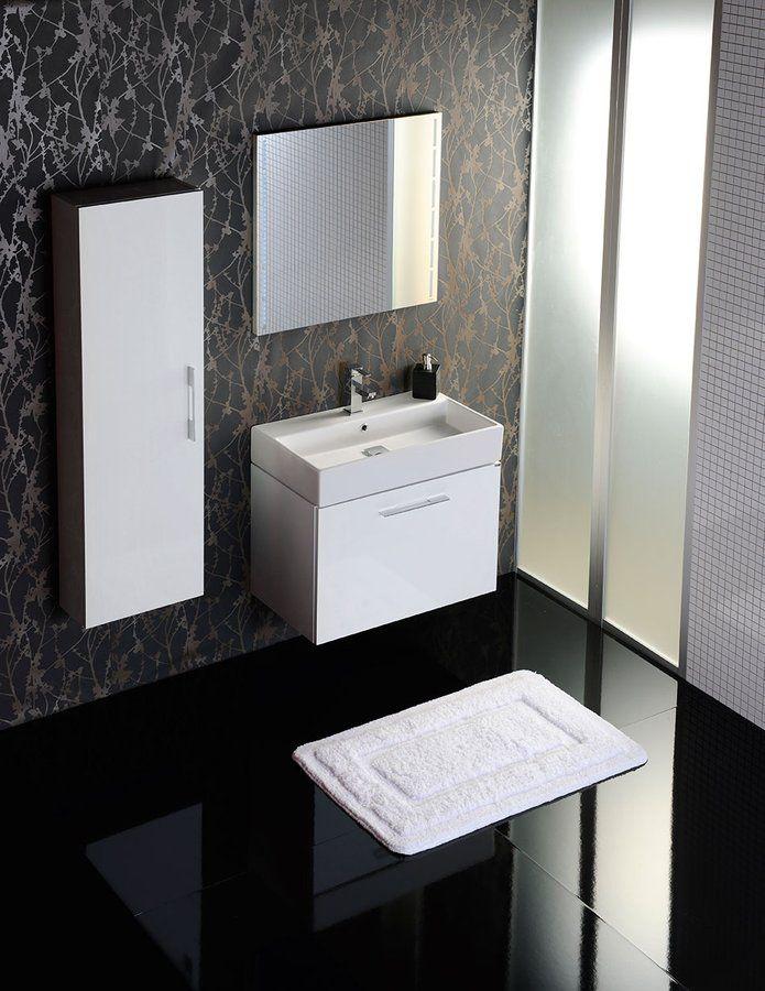 NATY je ideální pro každodenní praktické využití obohacené estetickým zážitkem. Skříňky jsou vybaveny účelnou vnitřní skrytou zásuvkou a skvěle ladí s tvarově dokonalými keramickými umyvadly v šířkách 50, 60 a 70 cm.
