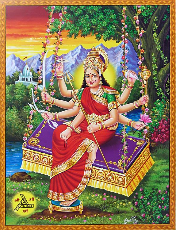 Maa Chandika (Reprint on Glazed Paper - Unframed))