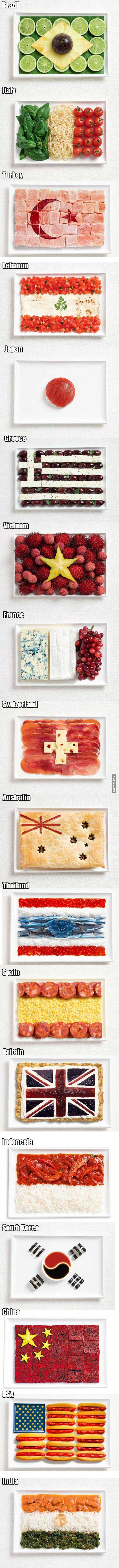 These Delicious Flags Are Made Out Of Typical Foods Of Their Countries