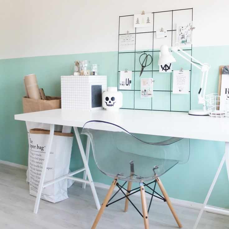 Halve muur in kleur, Website: http://www.missjettle.nl/2015/03/hello-mint.html