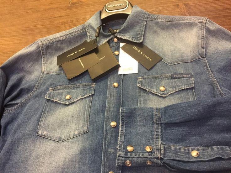 돌체앤가바나 17년 ss 신제품 매장 정품 데님 셔츠 남방 Dolce&Gabbana