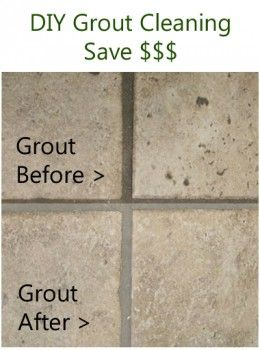 technique for cleaning grout yourself - easy and inexpensive.