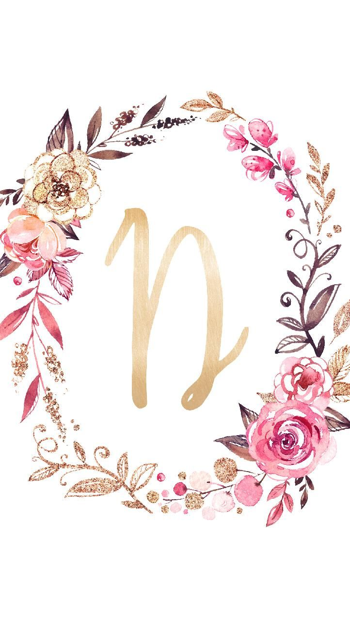 Download Monogram D Wallpaper By Sassenach90 C9 Free On Zedge Now Browse Millions Of Popular Flo Floral Wallpaper Phone Monogram Wallpaper Floral Letters