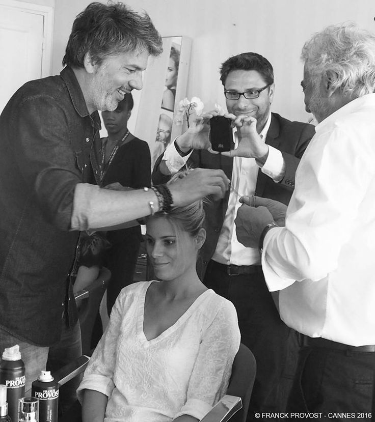 Moment of complicity in the Provost family #franckprovost #teamprovost #hairprep