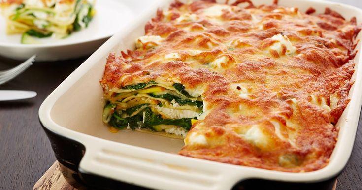 En bit av denne deilige ostegrønnsakslasagnen egner seg godt til lunsjboksen – hele året.