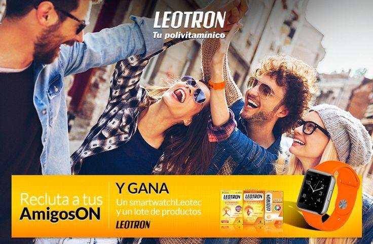 Recluta a tus AmigosON y gana un smartwatch Leotec y un lote de productos Leotron https://premium.easypromosapp.com/p/807550?uid=626596001&lc=es-es