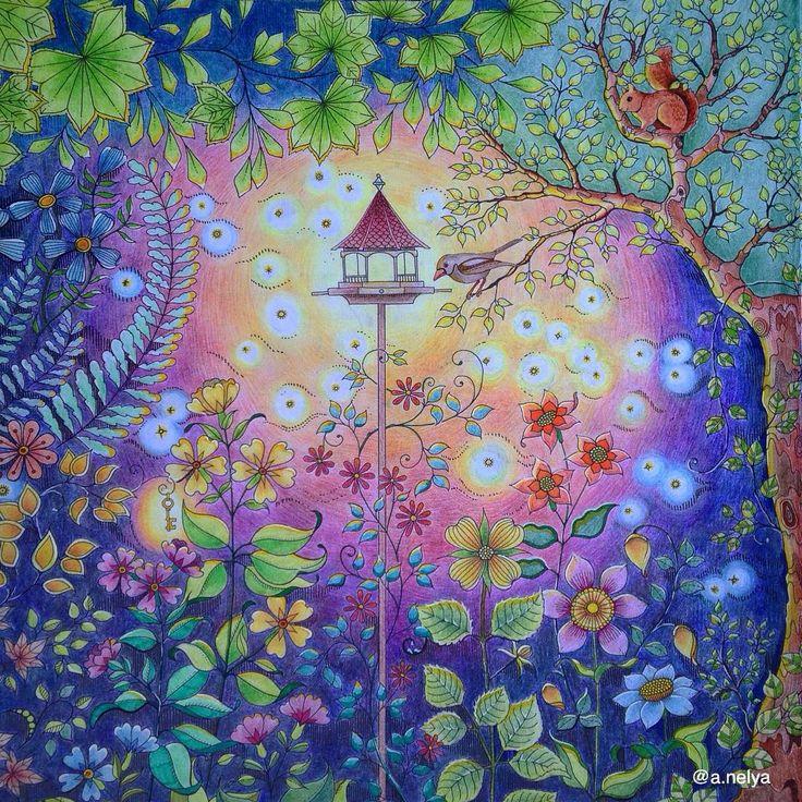 Garden Images Johanna Basford Secret Coloring Books Colouring Gardens Pencil Log Projects Vintage