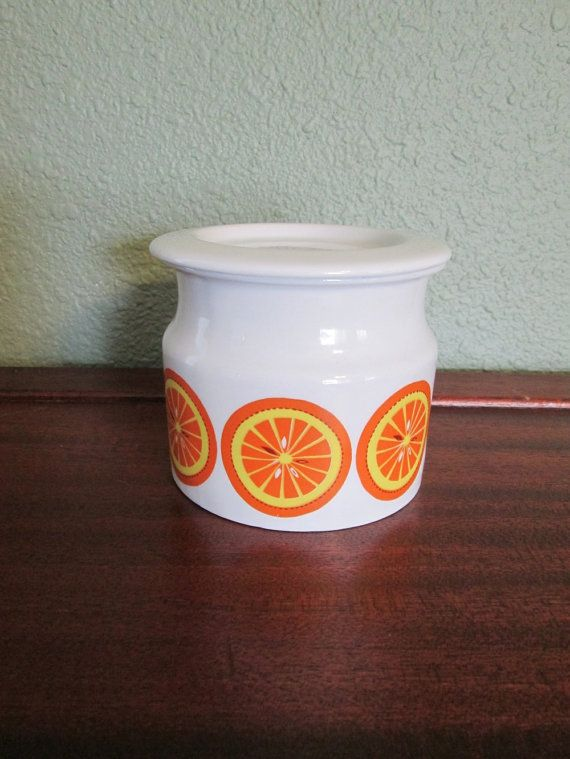 Arabia of Finland Vintage Oranges Jam Pot by TheOctopusandTheFox, $50.00
