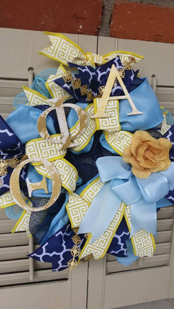 Theta Phi Alpha Sorority Wreath NKU Greek by Underthekentuckysun